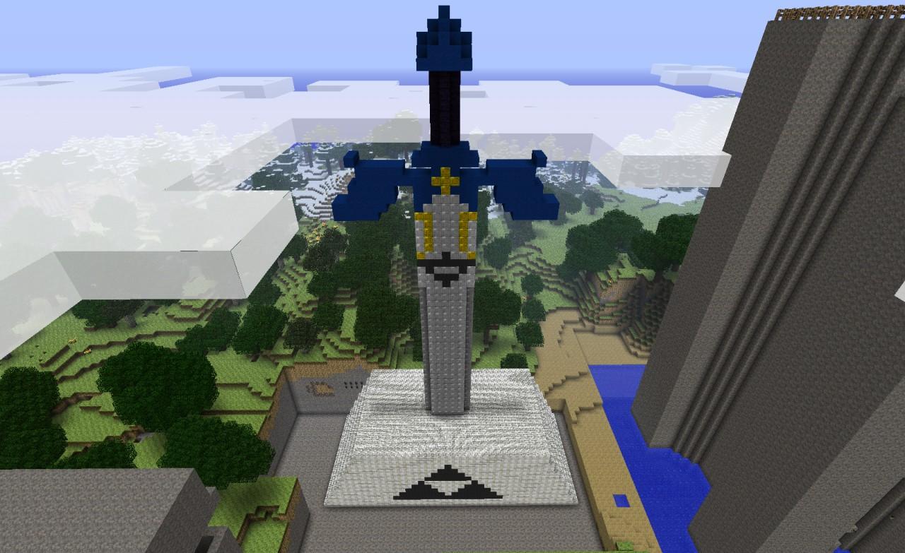 моих крупных статуя меча в майнкрафт место для