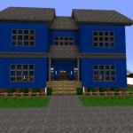 Blue Modern House Minecraft Map