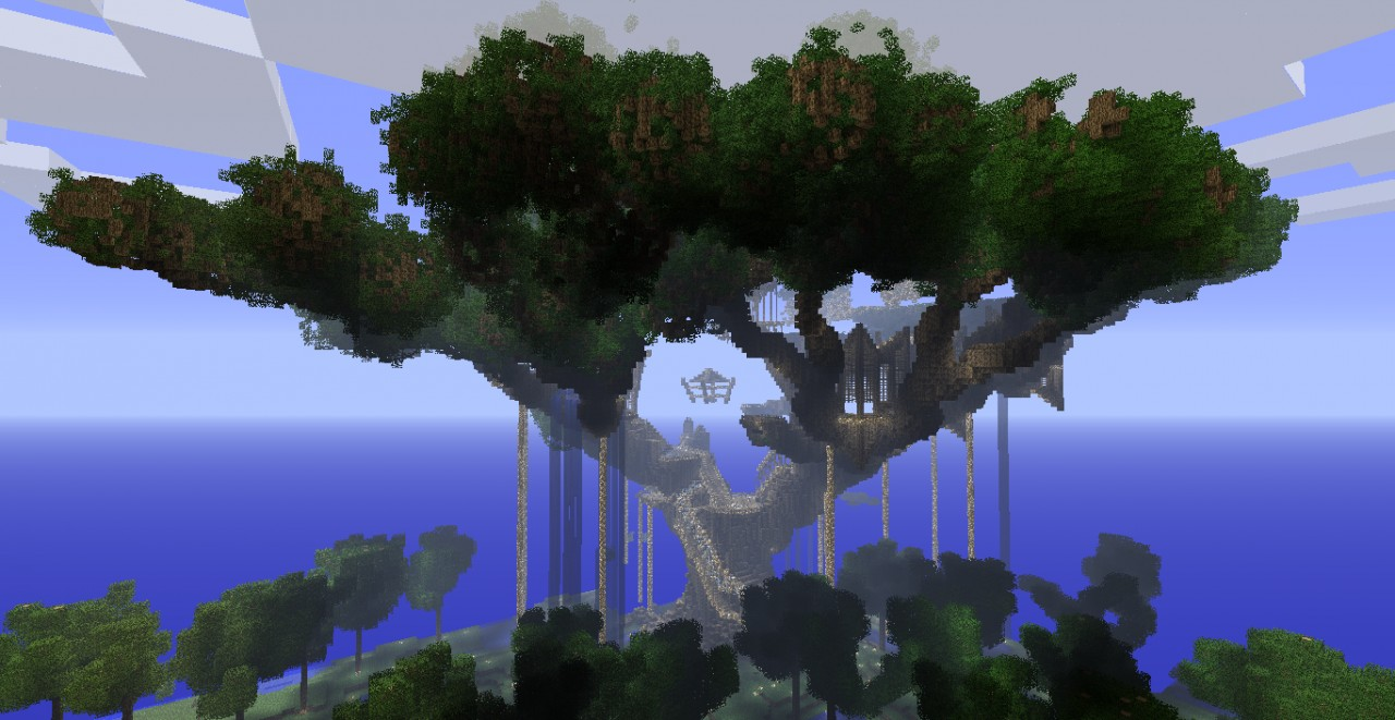 Hometree Burning Down Minecraft Project