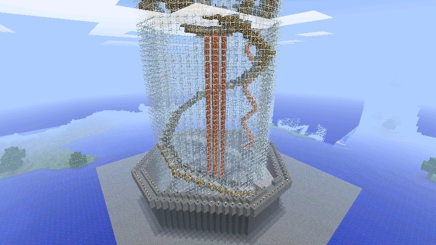 HUGE Glass Tower Minecraft Project