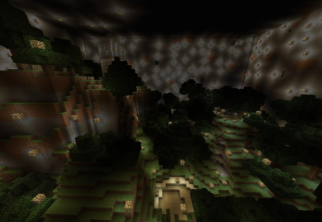 Secret Underground Forest Minecraft Project
