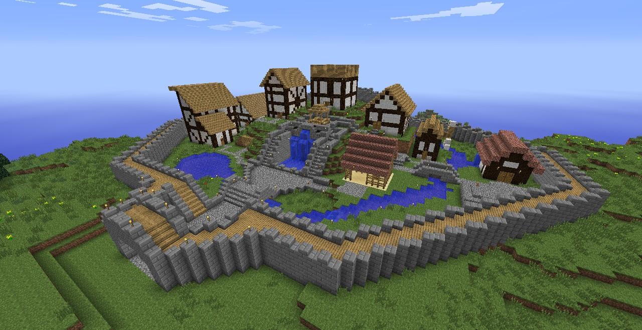 Tudor Village Minecraft Project