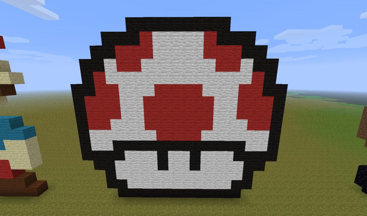 Pixel Art 8 Bit Mario Minecraft Project