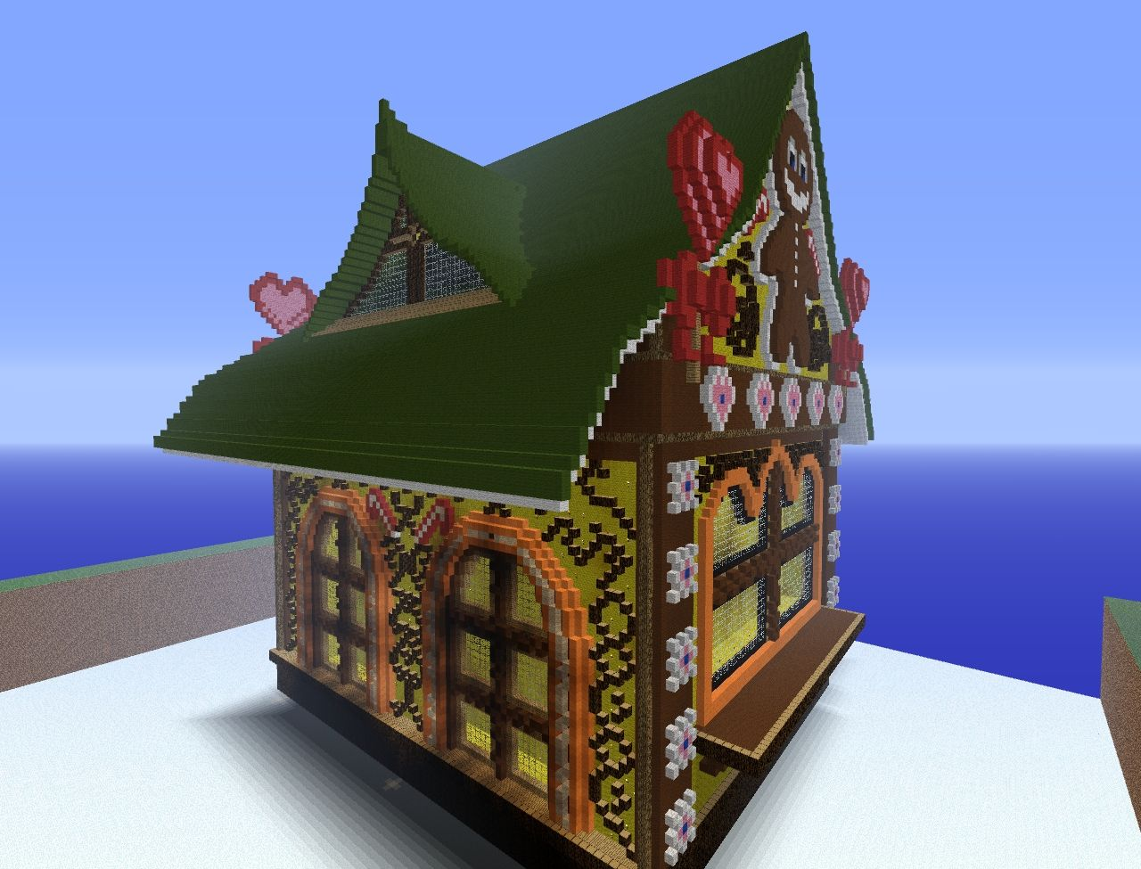 Gigantic Gingerbread House Minecraft Project