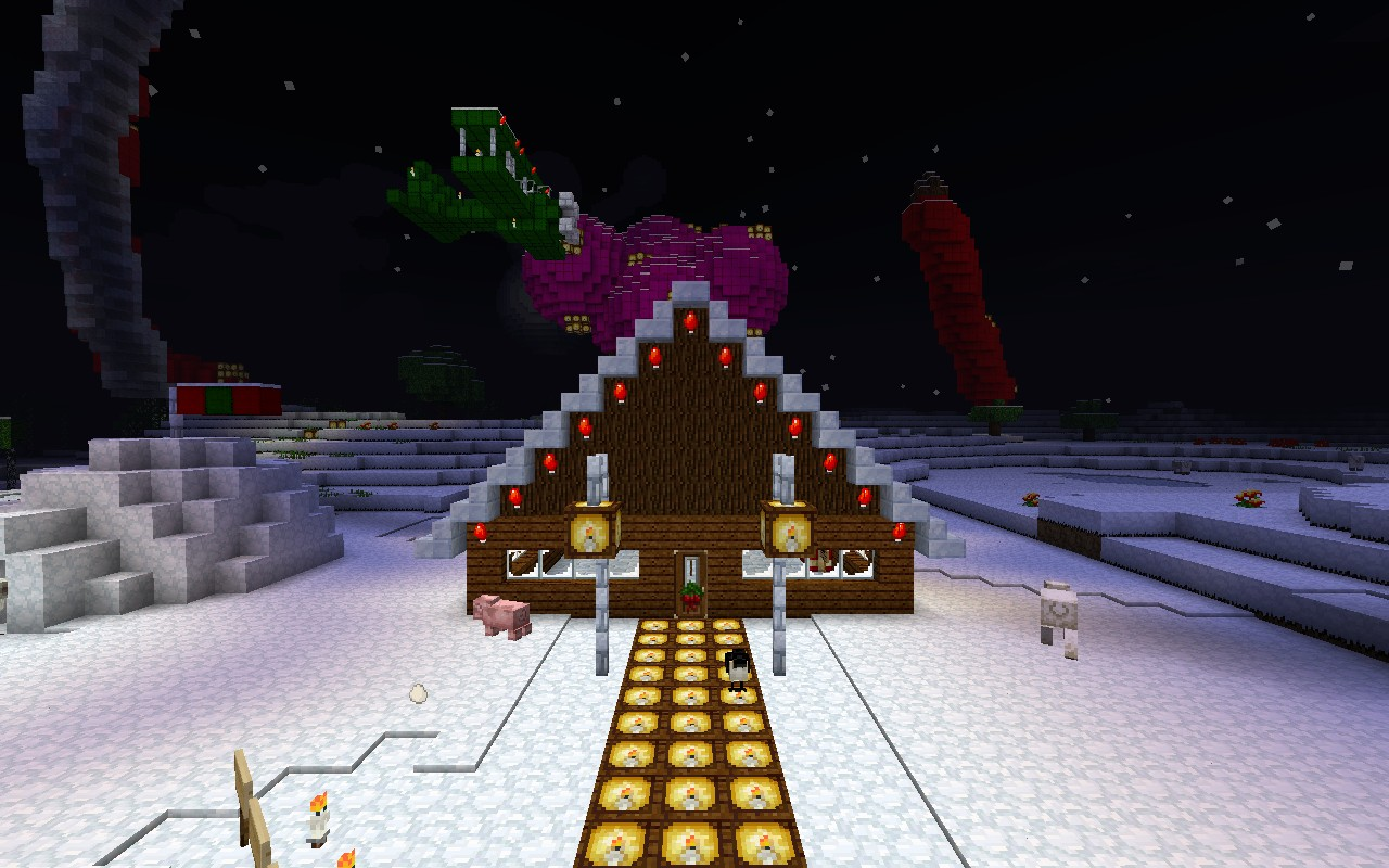 Christmas WONDERLAND With Christmas Tree Minecraft Project