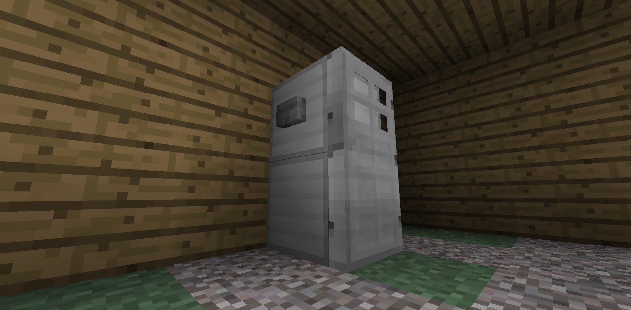 Easy And Useful Bathroom And Refrigerator Minecraft Project