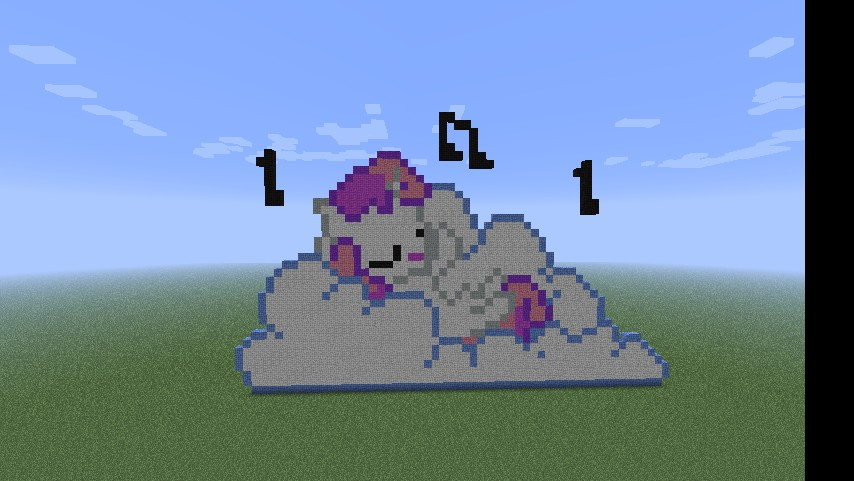 Sweetie Belle Singing On A Cloud Minecraft Project