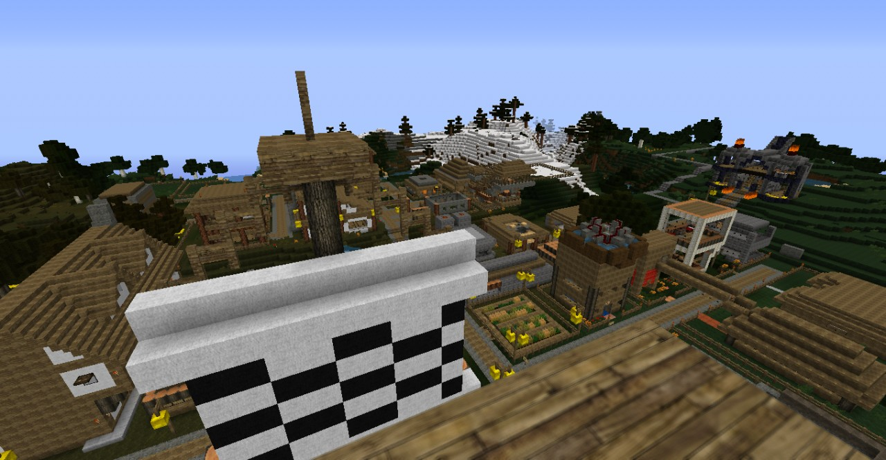 TiddleyCraft Spawn Amp Towns Minecraft Project
