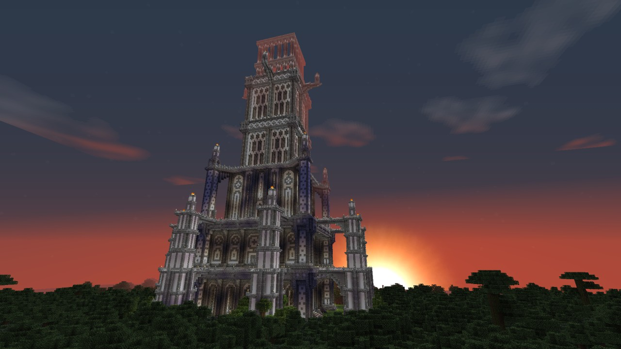 Massive Spawn Tower Minecraft Project