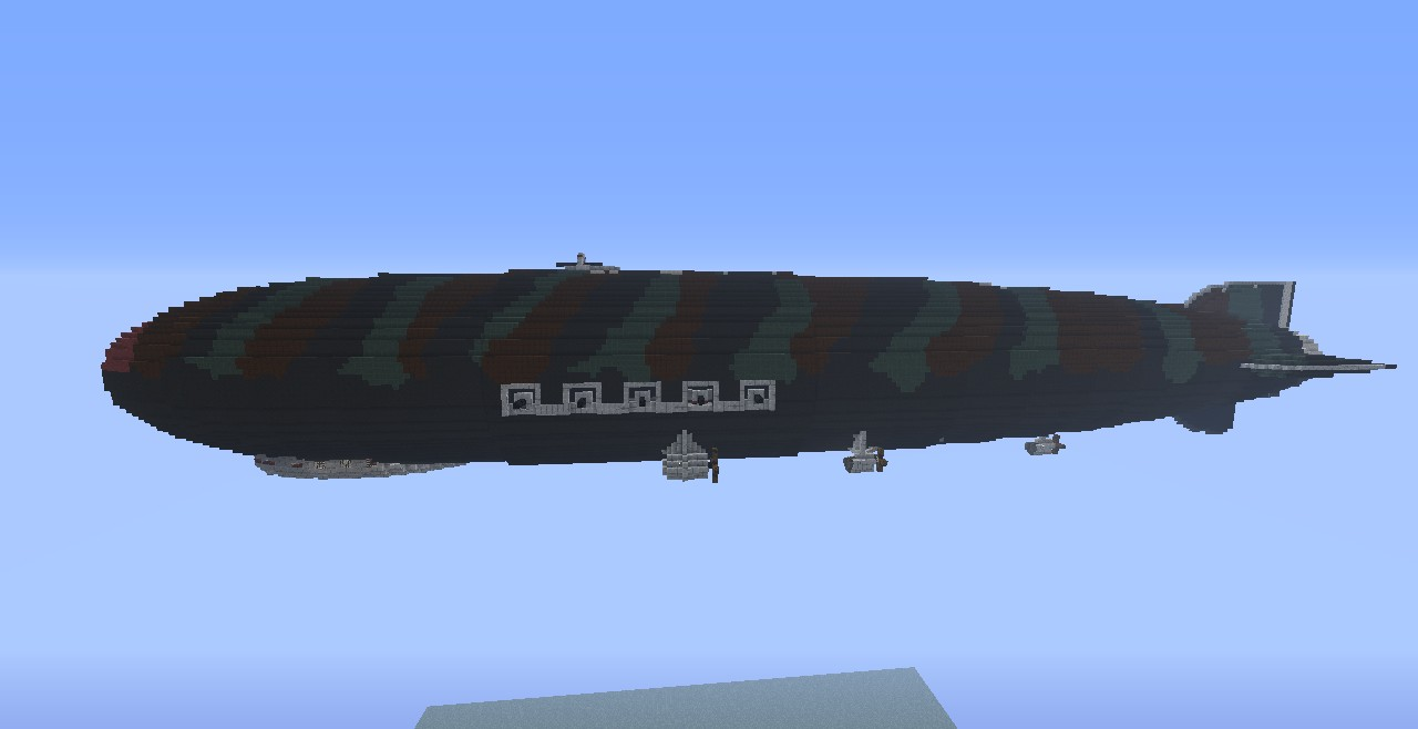 LX Donner Aerial Bombardment Zeppelin Minecraft Project