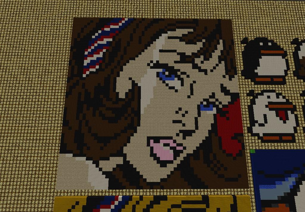 Girl Art Pixel Minecraft