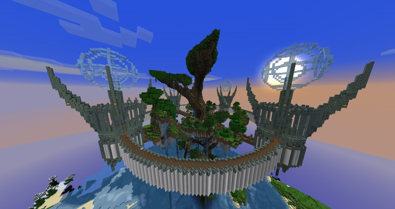 The Aether Tree God Tree And Islands Minecraft Project