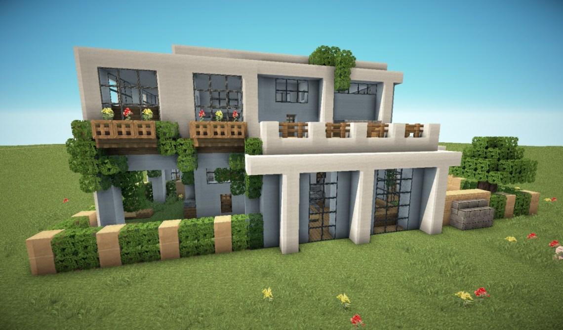 First Modern House Minecraft Map