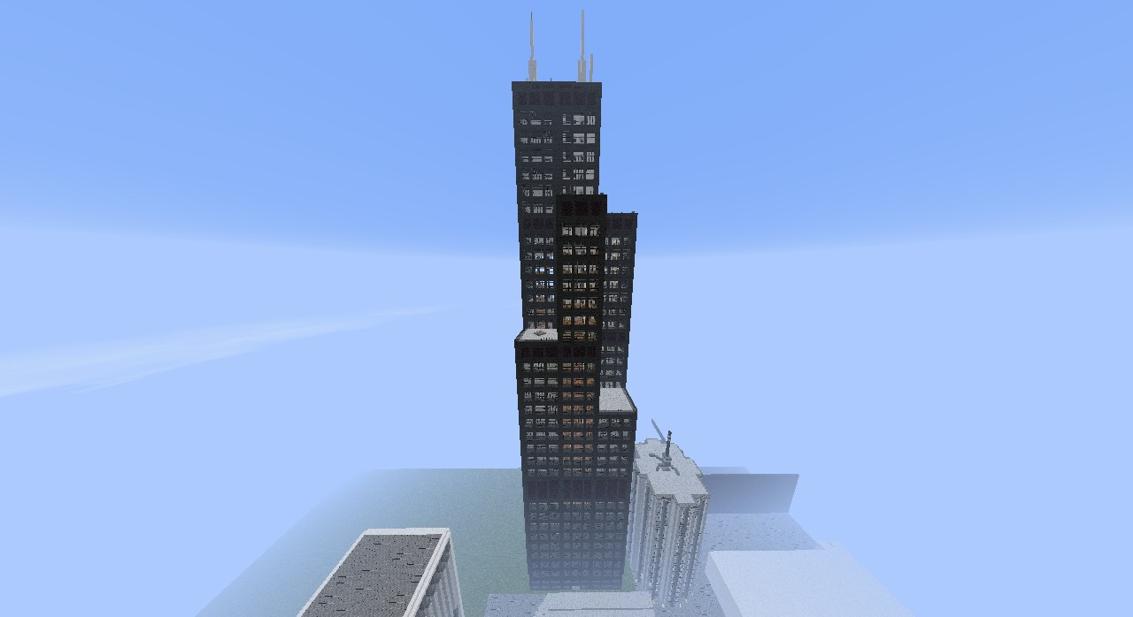 SearsWillis Tower With Redstone Minecraft Project