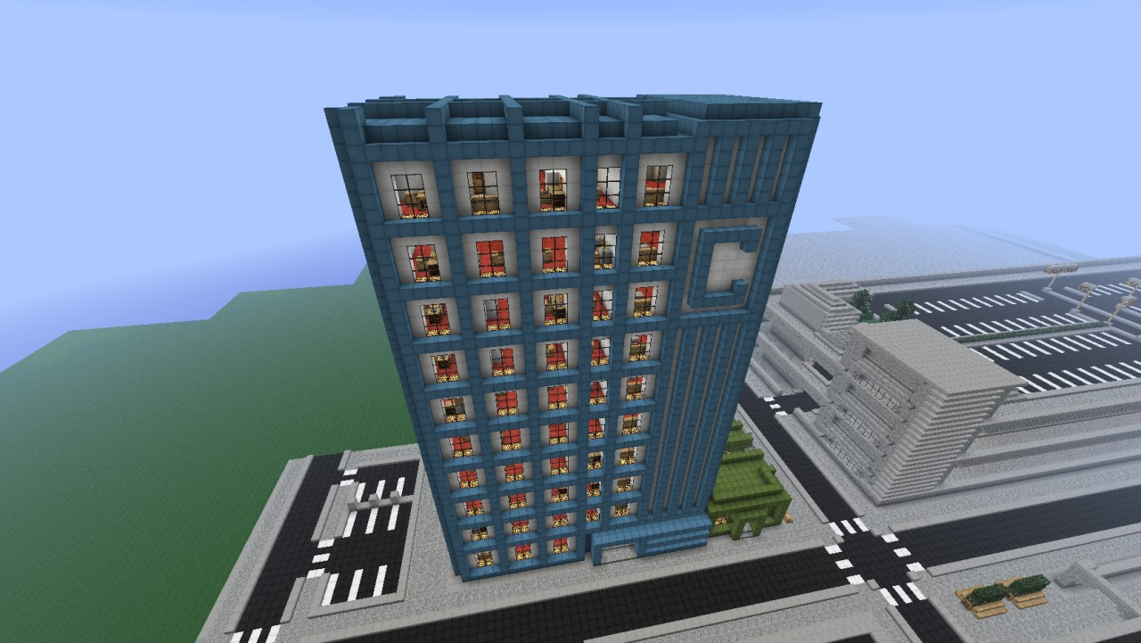 Modern City GoldenCraft City Minecraft Project
