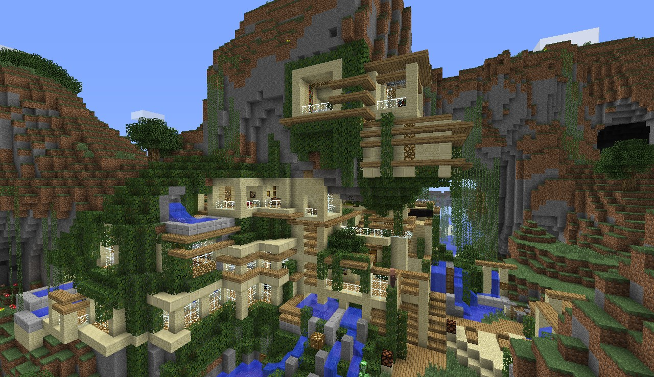 Modern House CliffMountain Minecraft Project