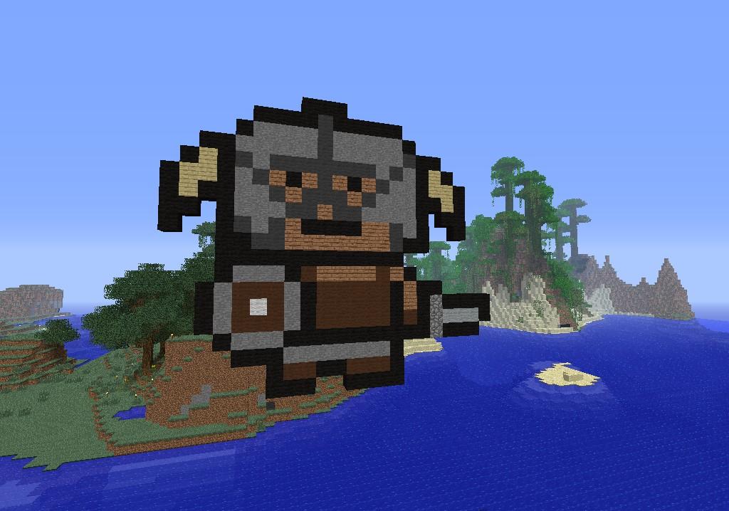 Minecraft Pixel Art Dovahkiin
