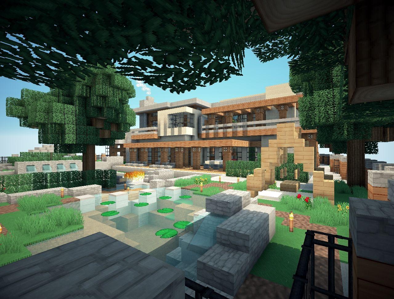 Mansion Minecraft Project on Mansion Backyard Ideas id=38134