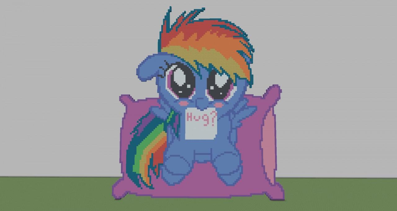 Rainbow Dash Pixel Art Template