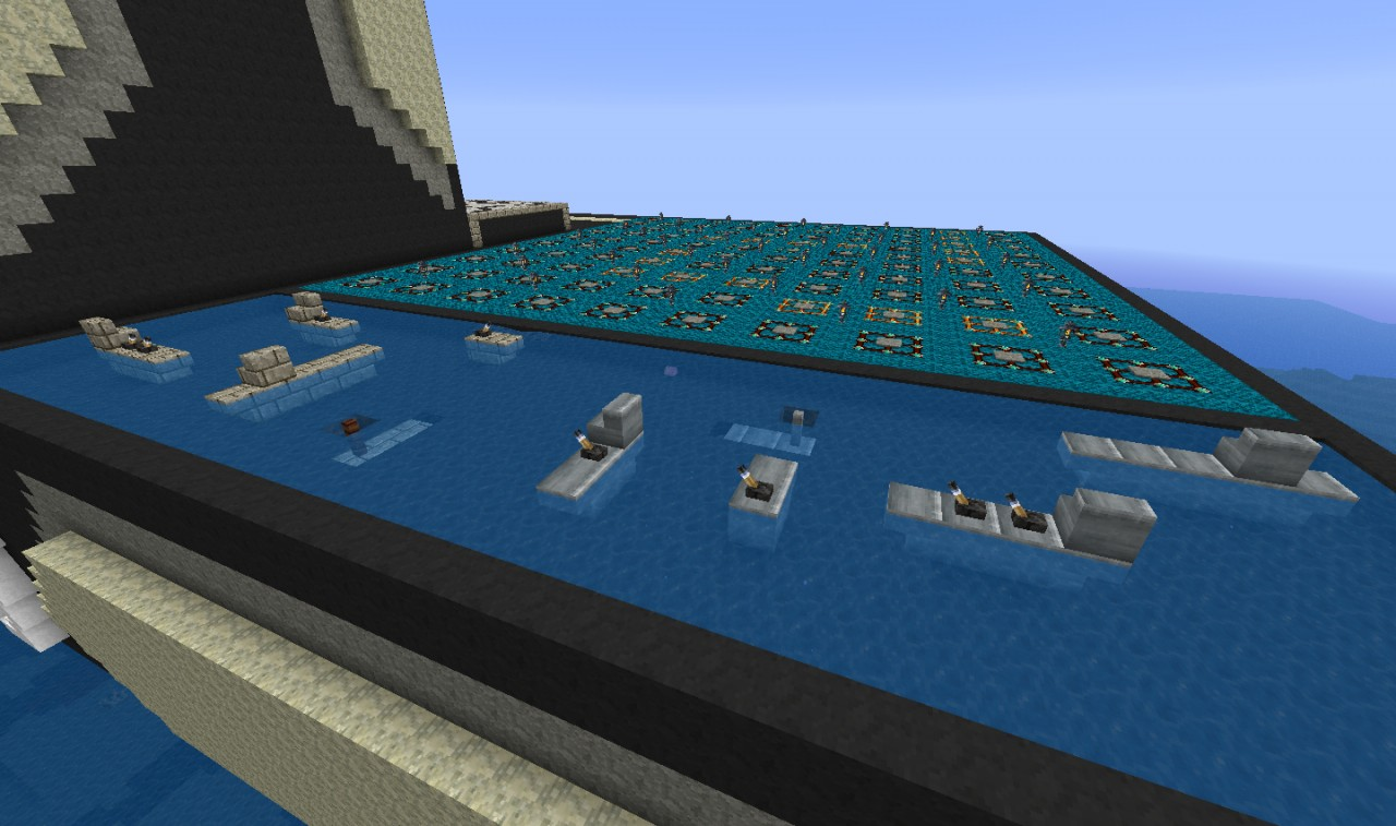 Battleship The Game In Minecraft Minecraft Project
