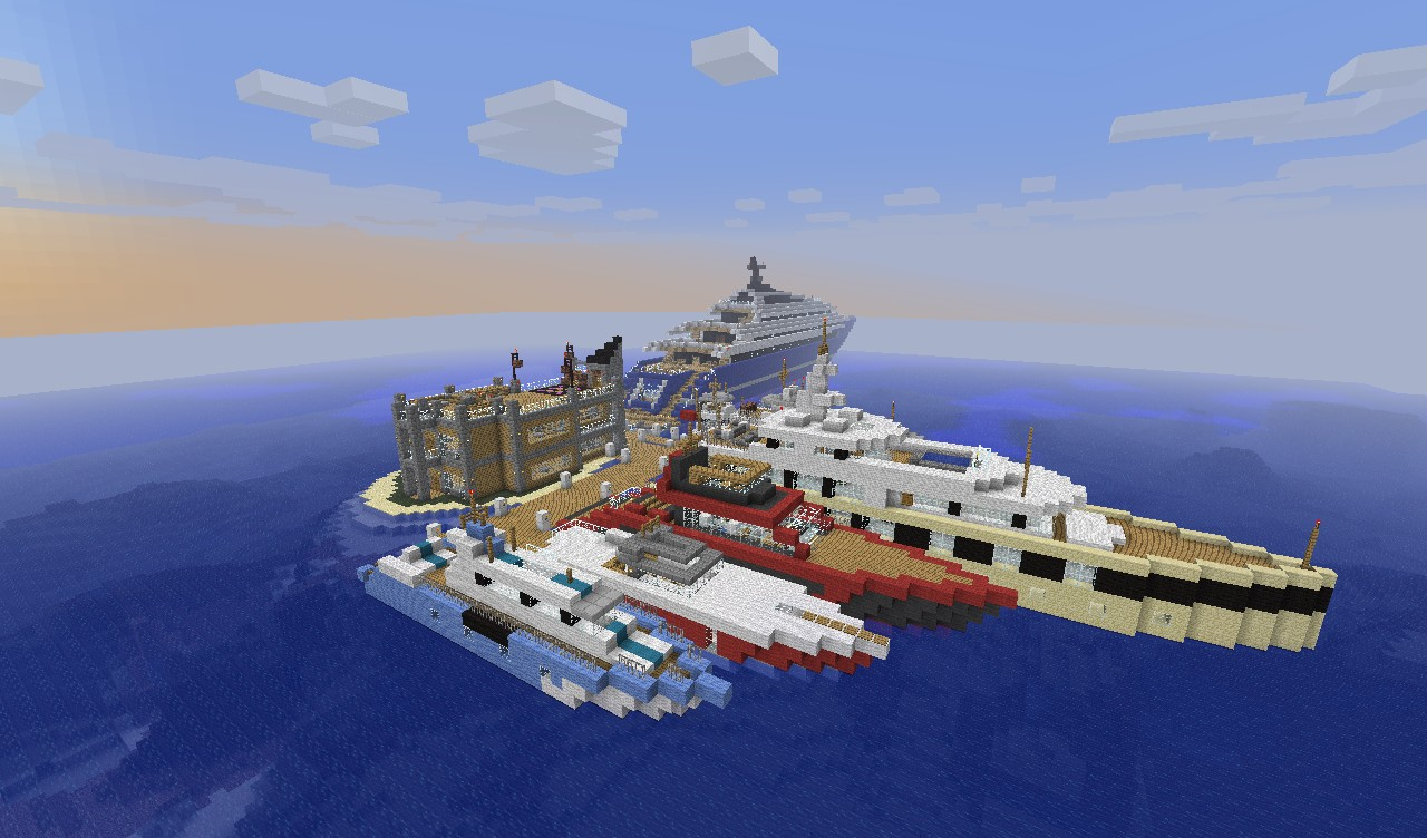 YACHTS AND VILLA CLUB Minecraft Project