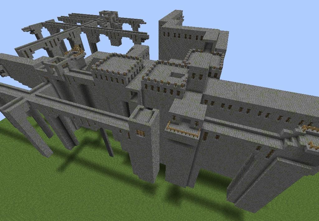 Stonebrick Nether Fortress Minecraft Project