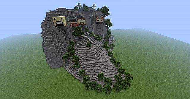 Mount Rushmore With Golden City Inside Minecraft Project