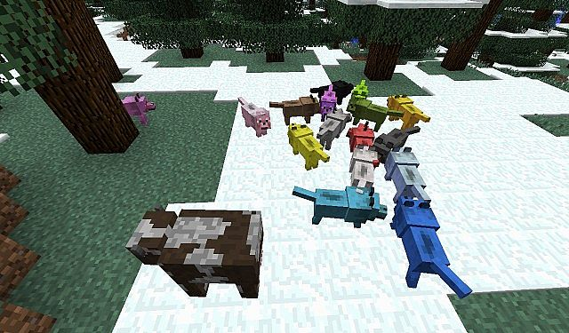 Color Wolves 162 Minecraft Texture Pack