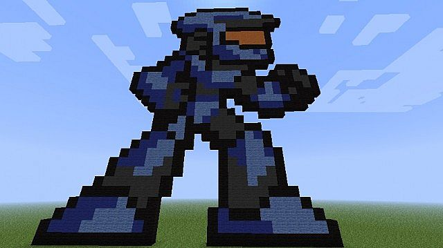 Minecraft Halo Pixel Art