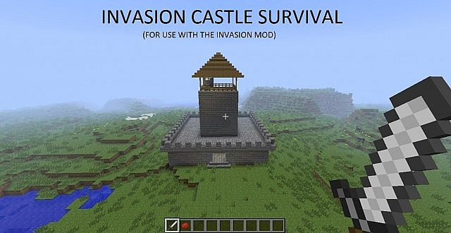 Invasion Castle Survival Map Minecraft Project