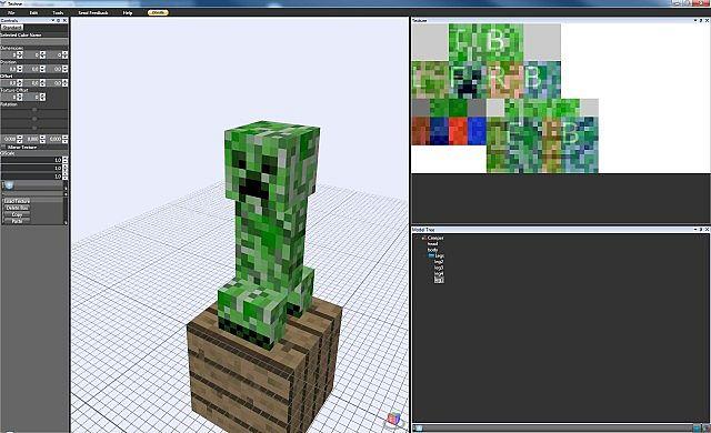 Modeller Techne Minecraft Mod