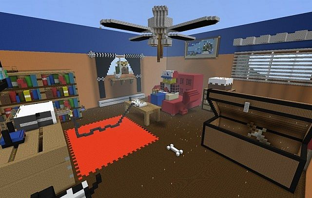 3D Game Room Minecraft Project