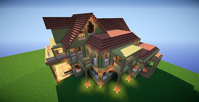 Huge House Using Gulliver Mod Minecraft Project