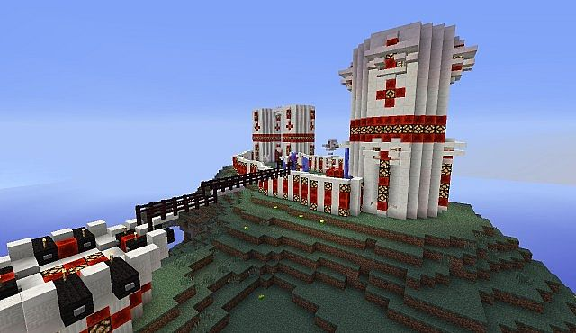 Epic Faction Base On Hill Minecraft Project
