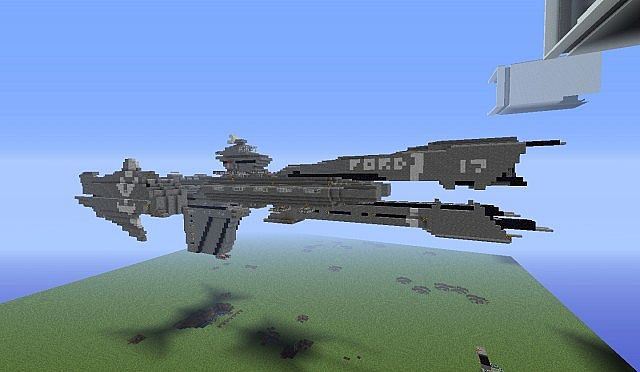 Halo Reach UNSC Frigate With Working MACTNT Cannon