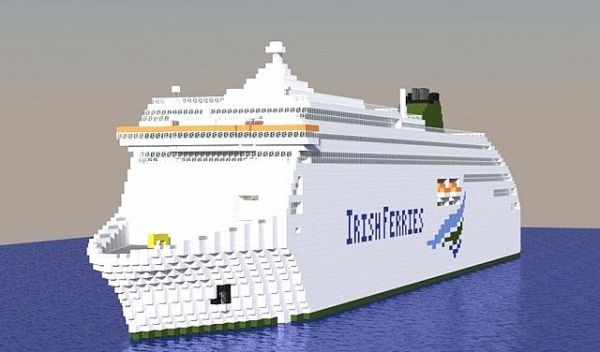 MV Ulysses - Biggest car ferry in the world! Minecraft Project