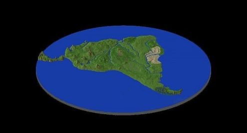 South America style map Download Now Available Minecraft Project More Brighter Image