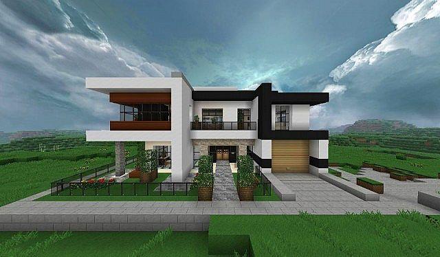 Modern House Minecraft Map