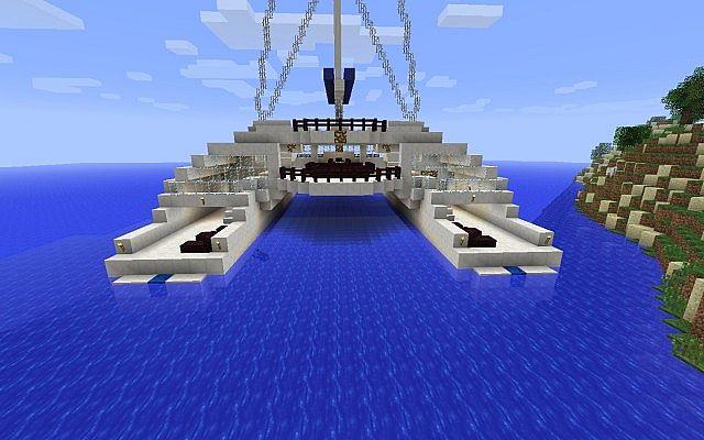 Cruising Catamaran Yacht Minecraft Project
