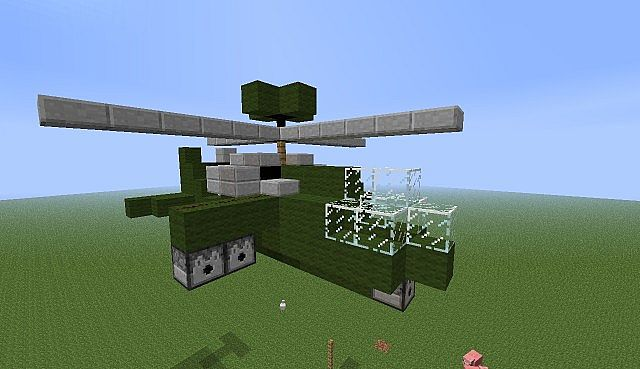 Apache Attack HelicopterShoots Minecraft Project