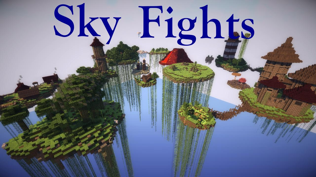 Sky Fights A Minecraft PvP Survival Games Map Minecraft