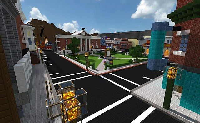 Back To The Future Hill Valley 1955 Minecraft Project