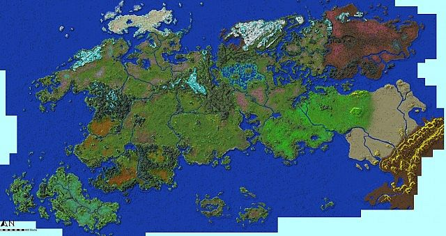 Realms Of Caeldor Fantasy Map Minecraft Project