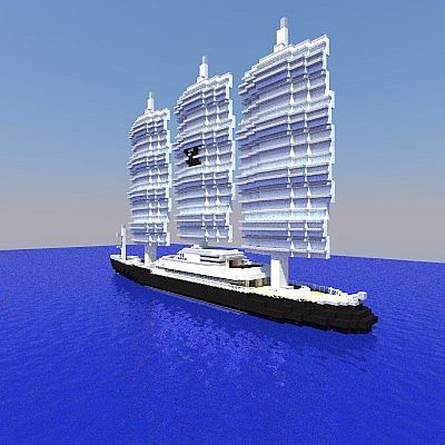 Maltese Falcon Sailing Yacht 11 Scale Minecraft Project