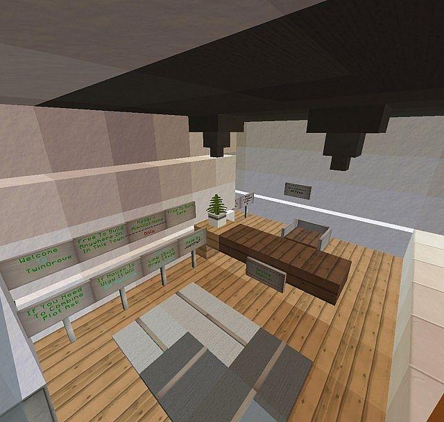 Modern Minmlist Office Interior Minecraft Project