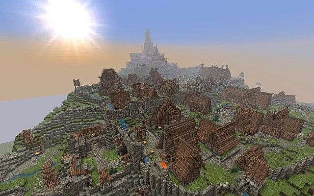Skyrim And Cyrodiil When Skyrim Is Finished In Minecraft Minecraft Project