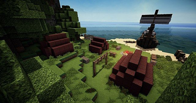 Simply click the big play button to start having fun. Realistic Drakkar Viking Ship And His Camp Minecraft Map