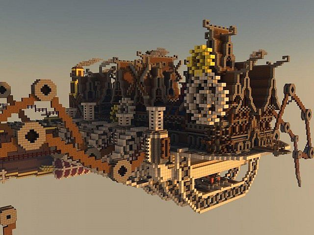 Steampunk Moving City Minecraft Project