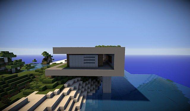 Horizon IRL Modern Cliff House Minecraft Project