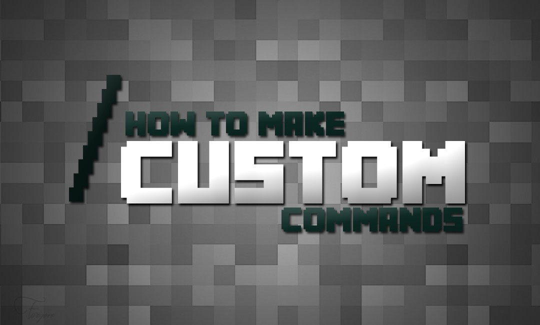 How To Make Custom Commands Minecraft Blog
